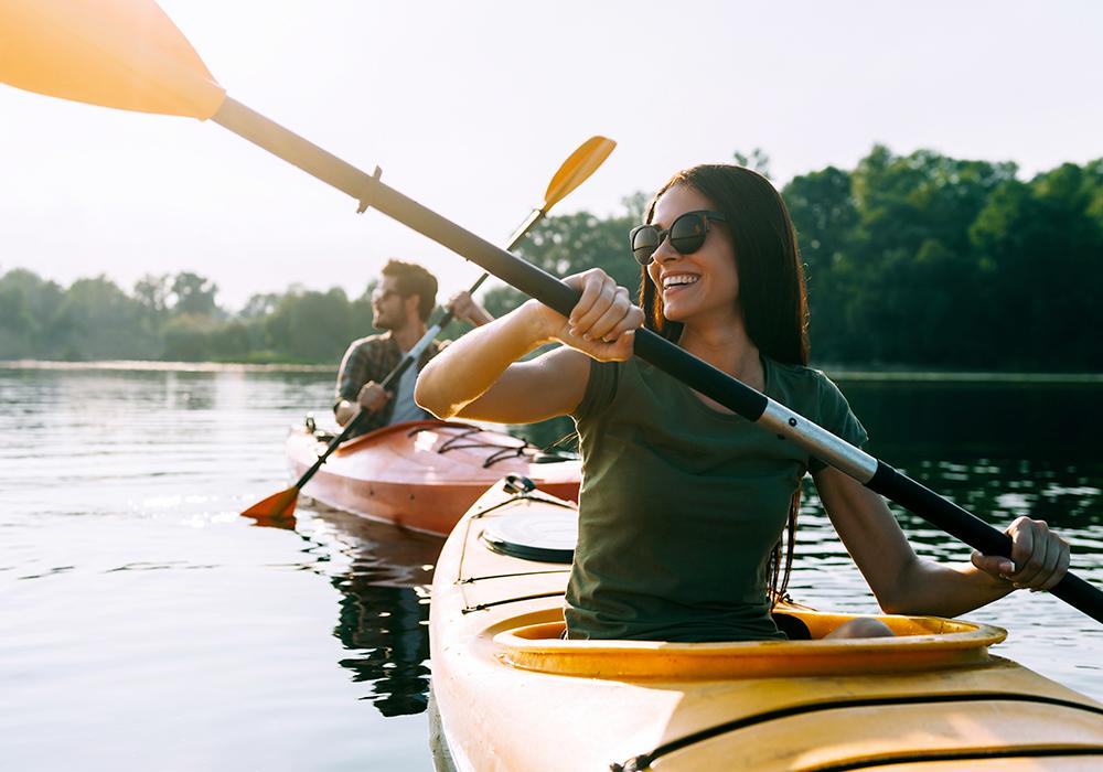canoa sul lago di Garda