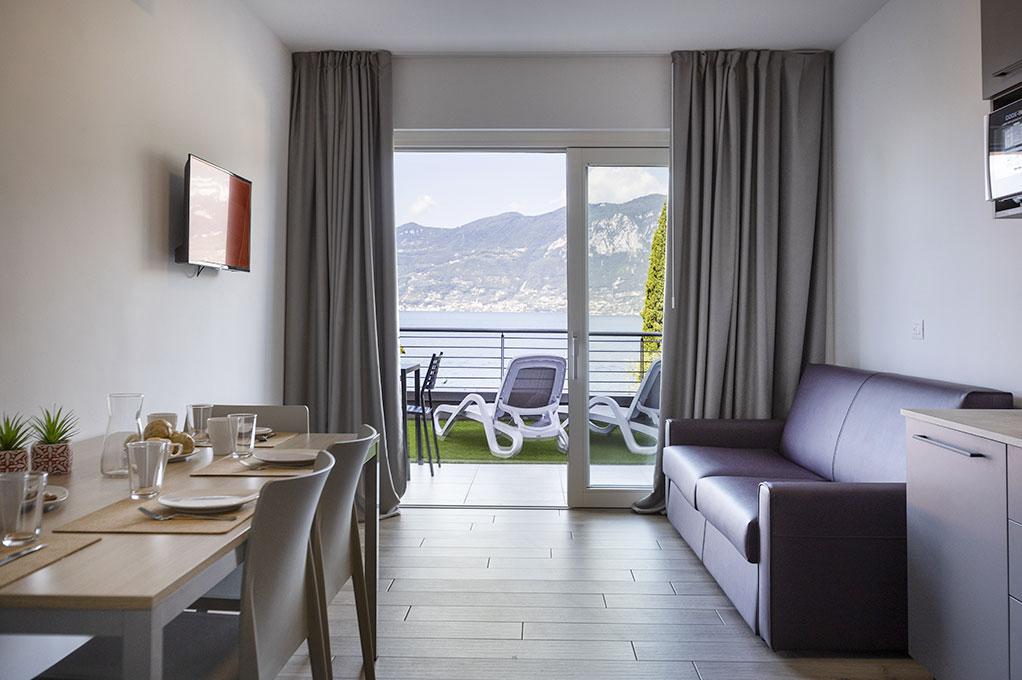 appartamento Trilocale residence Solei-Plus garda comodo divano letto