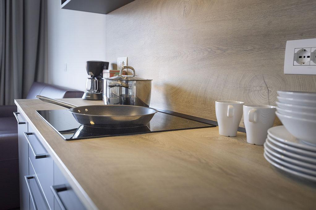 appartamento Trilocale residence Solei-Plus garda cucina attrezzata
